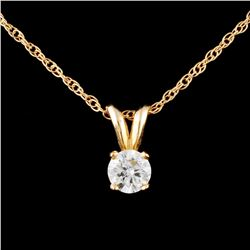 14K Gold 0.30ctw Diamond Pendant