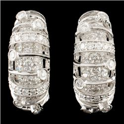 18K Gold 1.91ctw Diamond Earrings