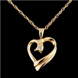14K Gold 0.05ctw Diamond Pendant