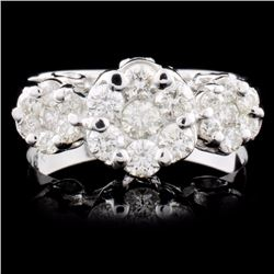 18K Gold 0.77ctw Diamond Ring