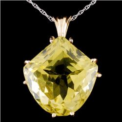 14K Gold 7.26ct Citrine Pendant