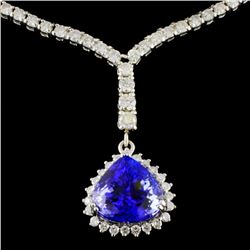 18K White Gold 5.96ct Tanzanite & 3.47ct Diamond N