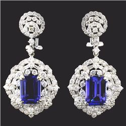 18K White Gold 6.22ct Tanzanite & 3.65ct Diamond E