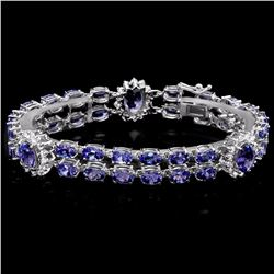 `14k Gold 21ct Tanzanite 1.66ct Diamond Bracelet
