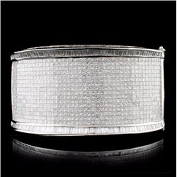 18K White Gold 60.00ctw Diamond Bracelet