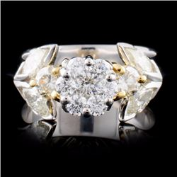 18K TT Gold 1.36ctw Diamond Ring