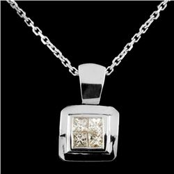 18K Gold 0.22ctw Diamond Pendant