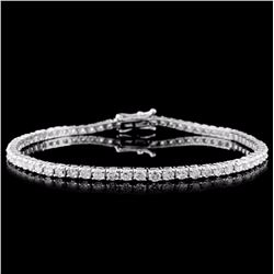 14K White Gold 5.00ct Diamond Tennis Bracelet