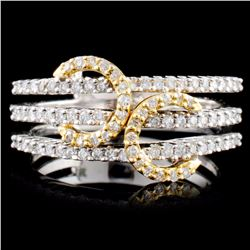 18K TT 0.71ctw Diamond Ring