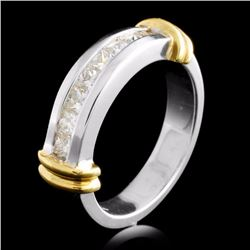 18K TT Gold 0.65ctw Diamond Ring