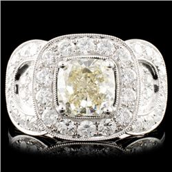 18K Gold 3.43ct Fancy Color Diamond Ring