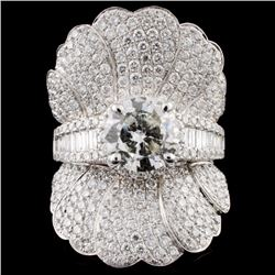 18K Gold 4.92ctw Diamond Ring