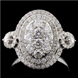 18K White Gold 1.26ct Diamond Ring
