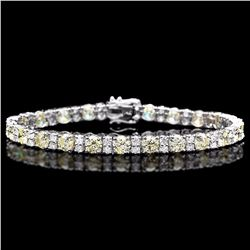 ^18k White Gold 12.5ct Diamond Bracelet