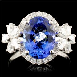 14K Gold 2.90ct Tanzanite & 1.05ctw Diamond Ring