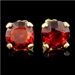14K Gold 2.24ct Garnet Earrings