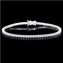 ^18k White Gold 4.50ct Diamond Bracelet