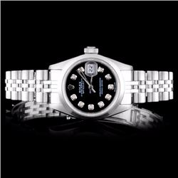 Rolex SS DateJust Diamond Ladies Watch