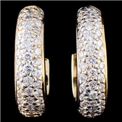 14K Gold 2.56ctw Diamond Earrings
