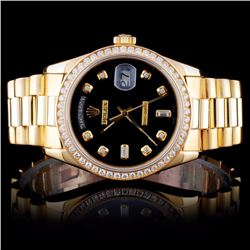 Rolex 18K DayDate 1.50ct Diamond Wristwatch