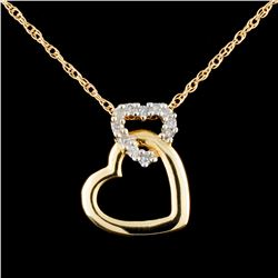10K Gold 0.21ctw Diamond Pendant
