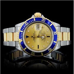 Rolex YG/SS Submariner Men's Wristwatch