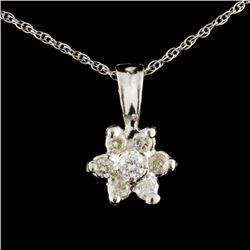 14K Gold 0.22ctw Diamond Pendant