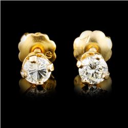 14K Gold 0.24ctw Diamond Earrings