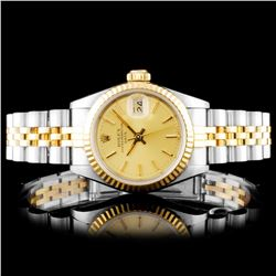 Rolex YG/SS DateJust Ladies Champagne Wristwatch