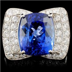 18K White Gold 6.95ct Tanzanite & 1.27ctw Diamond