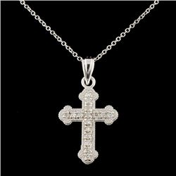 14K Gold 0.13ctw Diamond Pendant