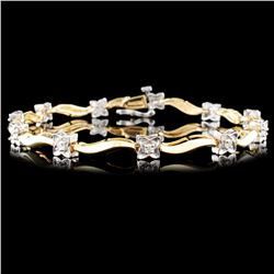 14K Gold 0.33ctw Diamond Bracelet