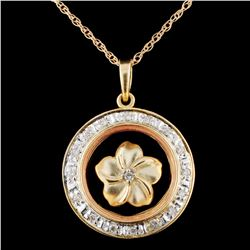 14K Gold 0.20ctw Diamond Pendant