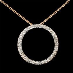 14K Gold 0.37ctw Diamond Pendant