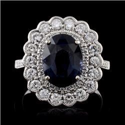 18K White Gold 3.52ct Spinel & 0.78ct Diamond Ring