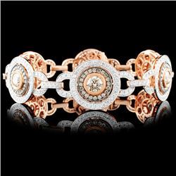 18K Rose Gold 7.75ctw Diamond Bracelet