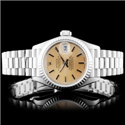 Rolex 18K Gold ÒTiffany & Co.Ó Ladies Pres. Wristh