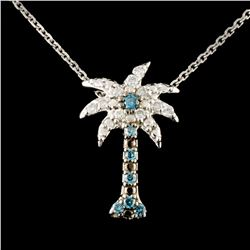 14K Gold 0.25ctw Fancy Color Diamond Pendant