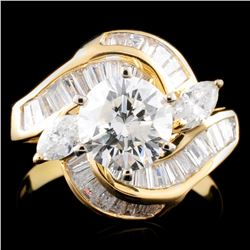 18K Gold 2.39ctw Diamond Ring