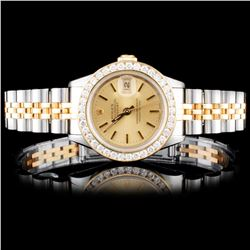 Rolex DateJust Ladies 1.00ct Diamond Wristwatch