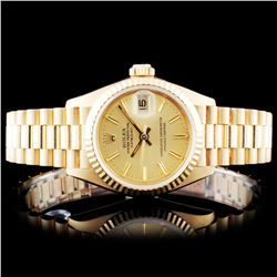 Rolex 18K Gold Presidential Ladies Wristwatch