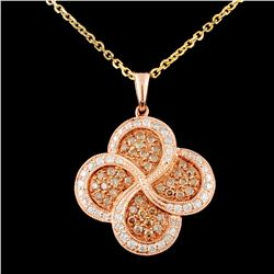 14K Gold 0.66ctw Fancy Color Diamond Pendant