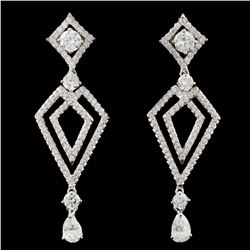 18K Gold 2.01ctw Diamond Earrings
