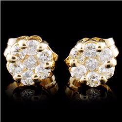 14K Gold 0.30ctw Diamond Earrings