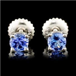 14K Gold 0.70ctw Tanzanite Earrings