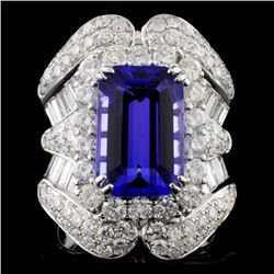 18K White Gold 5.95ct Tanzanite & 3.40ct Diamond R
