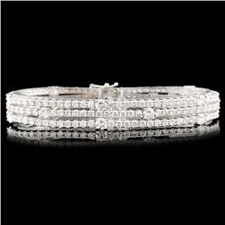 18K Gold 11.00ctw Diamond Bracelet