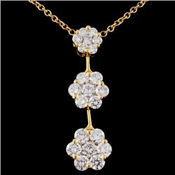 18K Yellow Gold 2.02ctw Diamond Necklace