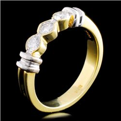 18K TT Gold 0.36ctw Diamond Ring