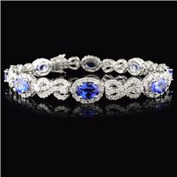 18K White Gold 5.52ct Tanzanite & 4.38ct Diamond B